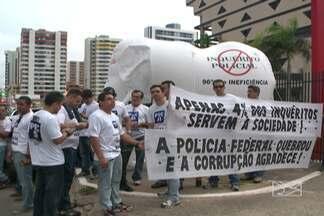 Polícia Federal tem um novo superintendente no Maranhão - Na cerimônia de posse, policiais fizeram um protesto contra a burocracia na instituição.