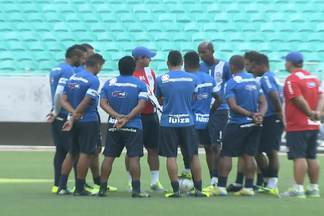 Bahia faz últimos ajustes antes do BAVI - O lateral recém chegado Diego Macedo estreia como titular.