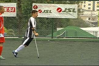 Futebol de amputados do Alto Tietê participa de documentário europeu - Equipe da Bélgica acompanhou a modalidade para gravações.