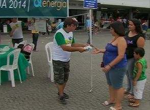 Em Caruaru, ações são realizadas para celebrar Dia da Água - O evento tinha por objetivo alertar sobre a importância de se consumir o líquido de forma racional.