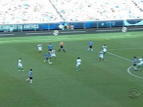 Grêmio vence o Juventude por 3 a 0 pelas quartas de final do Gauchão - Barcos marcou os três gols e pediu música no Fantástico.