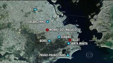 Governo do Estado anuncia troca de comando em oito UPPs do Rio - As Unidades de Polícia Pacificadora do Jacarezinho, Fé, Morro dos Macacos, Borel, Turano, Fallet, Santa Marta e Pavão-Pavãozinho terão seus comandantes trocados.