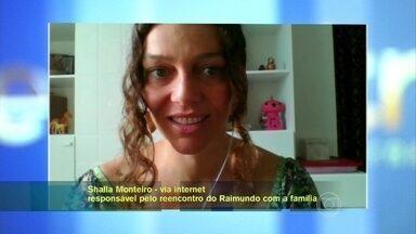 Shalla Monteiro declara amor por seu Raimundo - Mulher ajudou o ex-mendigo reencontrar família