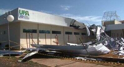 UPA de Mogi Guaçu que foi destelhada no mês passado não seguiu projeto original - UPA de Mogi Guaçu que foi destelhada no mês passado não seguiu projeto original, foi o que concluiu uma perícia. Os estragos ocorreram após um temporal.