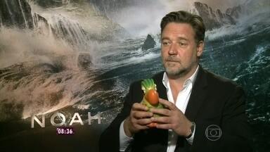 Nádia Bochi vai a Hollywood conferir lançamento do filme Noé - A repórter faz entrevista exclusiva com o ator Russell Crowe