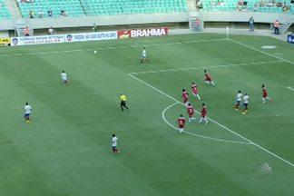 Bahia sofre para vencer o Serrano e garantir a vaga na final do Baianão - O tricolor sofreu muita pressão do adversário, mas acabou vencendo a partua no último sábado.