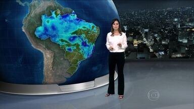 deve chover nesta quinta-feira (3) em grande parte do Brasil - Temporais atingem praticamente todo o Norte e Centro-Oeste, a região serrana do Rio de Janeiro, o centro-oeste de Minas, o Maranhão, o Piauí e o oeste da Bahia.