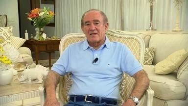 'Viva intensamente', diz Renato Aragão após sofrer infarto - Renato Aragão deu a primeira entrevista desde sofreu o infarto e foi internado. Ele conversou com a Renata Vasconcellos.