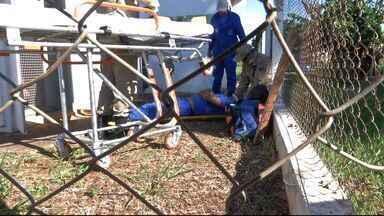 Funcionário de empresa responsável por abastecimento de água em Campo Grande fica ferido - O acidente aconteceu na manhã desta quarta-feira (9), no reservatório no bairro Nova Bahia