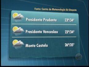 Frente fria começa chegar no Oeste Paulista - Previsão é de pancadas de chuva em algumas cidades.
