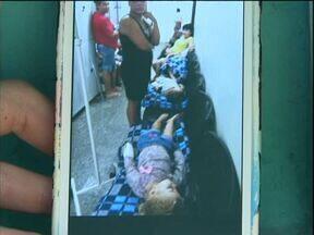 UPA pediátrica está lotada e pais reclamam - Crianças são atendidas em cadeiras nos corredores por falta de quartos e camas.