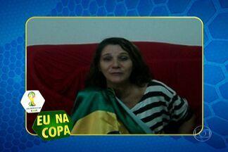 """Envie um vídeo com sua história na Copa do Mundo - Para enviar o vídeo, é só acessar a página de São Paulo no G1 e clica no ícone """"E na Copa"""". A Maria Aparecida dos Santos, do Jaraguá, na Zona Oeste já mandou um vídeo falando da final de 1994."""