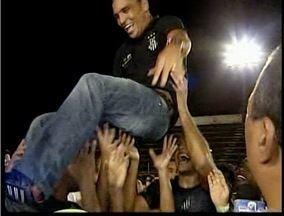 Domingo de Páscoa foi de festa para torcedores do Democrata-GV - Vitória garantiu acesso da Pantera para a elite do futebol mineiro.