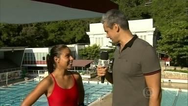 Atleta conta o que pode dar errado ao saltar de 10 metros - Otaviano Costa pede dicas para Danielle Robles