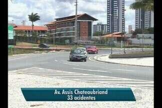 Avenidas com maior número de acidentes em Campina Grande - Trinta por cento dos acidentes deixam vítimas.Os dados foram divulgados pela Companhia de Polícia de Trânsito.
