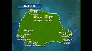 Terça-feira de chuva na volta do feriado prolongando - A previsão é de chuva na terça. E só volta a fazer sol na quarta-feira.