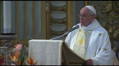 Papa Francisco celebra missa em ação de graças pela canonização do Padre José de Anchieta - Anchieta foi canonizado dia 3 de abril por um decreto do Papa. Ele celebrou a missa em português.