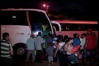 Nove ônibus irregulares são apreendidos nas estradas estaduais do Norte de Minas - Veículos foram levados para para o pátio da ANTT.