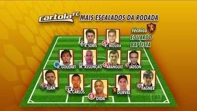 Confira a seleção dos jogadores mais escalados para a rodada do Cartola - Ataque 'e formado por Rafael Sobis e Rafael Moura.