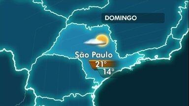 Último domingo de abril pode ter céu nublado em São Paulo - O domingo começa com neblina em algumas regiões da Grande São Paulo e também mais frio. À tarde, a temperatura só vai até os 21ºC.