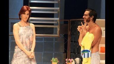 """Maria Clara Gueiros e Ricardo Tozzi apresentam a peça """"Enfim Nós"""", no teatro Univap - O dois atores trabalharam juntos na novela """"Insensato coração"""" da Rede Globo, em 2011."""