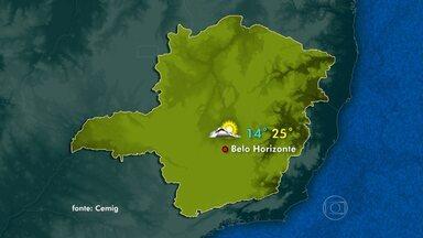Domingo vai ser de temperaturas baixas em quase todas as regiões de MG - No Norte e Nordeste devem acontecer pancadas de chuva.