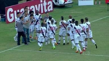 Vasco consegue primeira vitória na Série B - O Vasco ganhou do Atlético Goianiense em São Januário. O placar foi três a zero para o time carioca,.