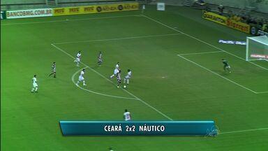 Naútico e Ceará empatam - Cada time fez dois gols na Arena Castelão neste sábado (3)
