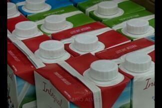 Reajuste do preço do leite entre abril e março foi de 12,49% - O litro do leite está custando em média R$ 2,24.