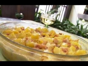 Batata gratinada - Queijo, batata e vinho numa receita bem saborosa. Aprenda a fazer uma batata gratinada especial. Para imprimir a lista de ingredientes e o modo de preparo, acesse www.tvtem.com/nossocampo
