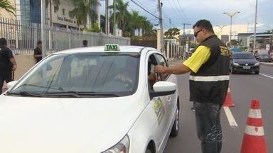 Órgãos de trânsito realizam fiscalização em Manaus - Operação contou com agentes do Manaustrans, Detran e SMTU.