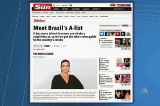 """Ivete Sangalo é elogiada por tablóide inglês - """"The Sun"""" citou Ivete como uma """"lenda"""" da música brasileira."""