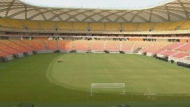 Arena da Amazônia é entregue para Fifa, em Manaus - Entrega oficial serve para que a Fifa faça os ajustes necessários; espaço será usado durante a Copa do Mundo.