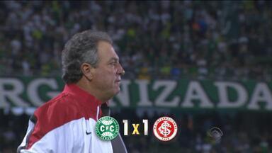 Inter empata com Coritiba e deixa escapar liderança do Brasileirão - Time continua sem vencer fora de casa.