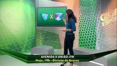 Começa a decisão do segundo turno da Divisão de Acesso - Avenida e União Frederiquense disputam vaga na elite do futebol gaúcho em 2015.