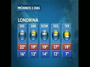 Deve chover bastante nos próximos dias em Londrina - A previsão é de um fim de semana com pouco sol na nossa região.