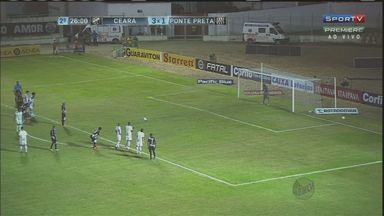 Ponte Preta perde invencibilidade em jogo contra o Ceará - A Ponte Preta perdeu de 3 a 2 para o Ceará. O jogo foi disputado nesta sexta-feira (24) em Horizonte (CE).