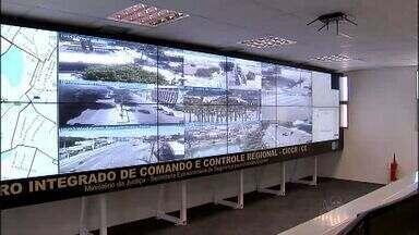 Secretaria de Segurança inaugura central de monitoramento em Fortaleza - Câmeras serão utilizadas para serviços de segurança durante a Copa do Mundo.
