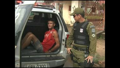 PM cumpre mandado de prisão contra suspeito de assalto em Santarém - Jovem nega participação em crime que aconteceu em 2011. Ele estava em liberdade provisória, praticando furtos e assaltos na cidade.