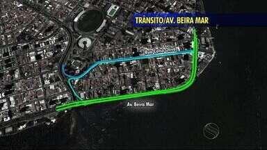 Veja como fica o trânsito na Avenida Beira após liberação do tráfego de veículos - Veja como fica o trânsito na Avenida Beira após liberação do tráfego de veículos