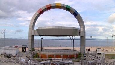 Ponta Negra em Manaus começa a receber estrutura do Fifa Fan Fest - Mundial da Copa de 2014 começa em 13 dias no país.