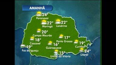 Sábado será um pouco mais quente na capital - Há chance de chuva no fim da tarde