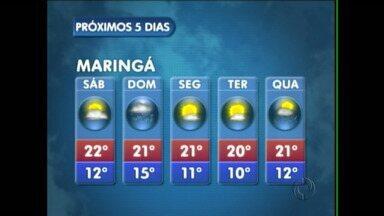 Tem previsão de chuva no fim de semana na região - Em Campo Mourão podem ocorrer pancadas de chuva amanhã