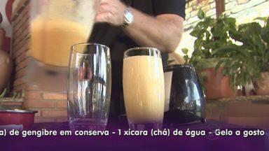 Kassab ensina bebidas para aproveitar a Copa - Dica do dia é uma mistura de tangerina e abacaxi.