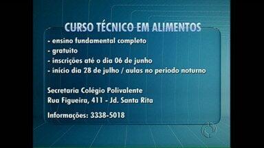Curso Técnico de Alimentos está com inscrições abertas até amanhã - O curso ministrado no Colégio Polivalente de Londrina é o único aqui da região, e o mercado de trabalho para o profissional da área é extenso.
