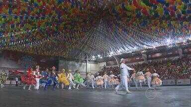 Termina etapa classificatória do Festival de Quadrilhas Juninas da Globo Nordeste - Sábado se apresentaram sete grupo. E no domingo, foram seis concorrentes.