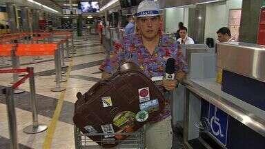 Alexandre Cabral embarca para Cuiabá - O repórter da TV Morena vai participar da cobertura da Copa do Mundo