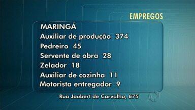 Maringá e cidades da região têm vagas de emprego abertas - Confira as oportunidades de trabalho para Maringá, Sarandi e Marialva.