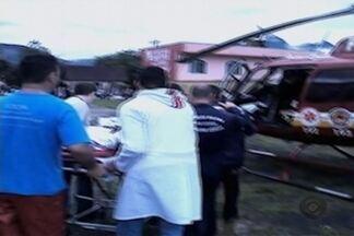 Morre menino que estava internado em Joinville - Ele e a família ficaram feridos após deslizamentos em Guaramirim.