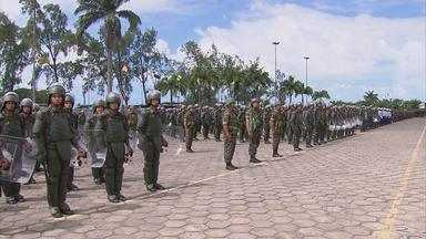 Militares das Forças Armadas, que vão trabalhar na Copa, participam de cerimônia no Recife - Apresentação ocorreu no Comando da 7ª Região Militar.